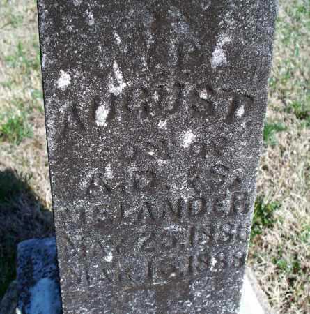 MELANDER, AUGUST - Montgomery County, Kansas | AUGUST MELANDER - Kansas Gravestone Photos