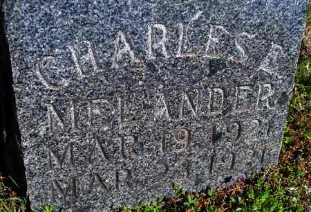 MELANDER, CHARLES E. - Montgomery County, Kansas | CHARLES E. MELANDER - Kansas Gravestone Photos