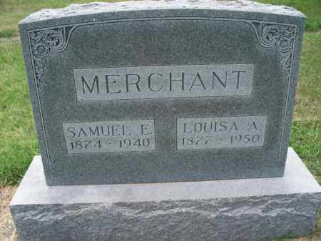 MERCHANT, SAMUEL E. - Montgomery County, Kansas   SAMUEL E. MERCHANT - Kansas Gravestone Photos