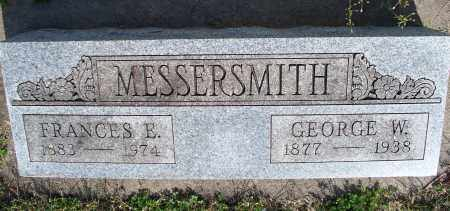 MESSERSMITH, FRANCES E. - Montgomery County, Kansas | FRANCES E. MESSERSMITH - Kansas Gravestone Photos
