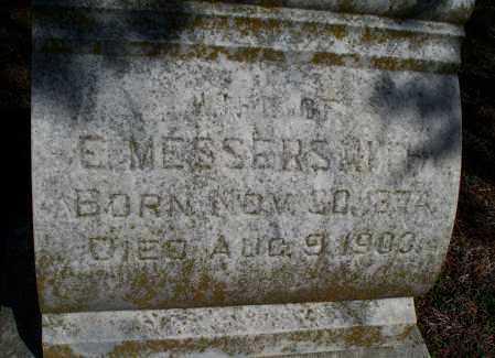 MESSERSMITH, UNKNOWN - Montgomery County, Kansas | UNKNOWN MESSERSMITH - Kansas Gravestone Photos