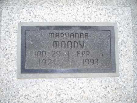 MOODY, MARYANNA - Montgomery County, Kansas | MARYANNA MOODY - Kansas Gravestone Photos