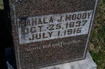 MOODY, MAHALA J. - Montgomery County, Kansas | MAHALA J. MOODY - Kansas Gravestone Photos
