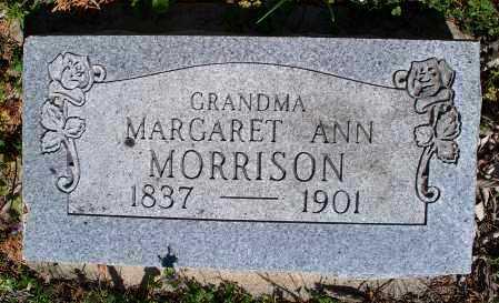 MORRISON, MARGARET ANN - Montgomery County, Kansas   MARGARET ANN MORRISON - Kansas Gravestone Photos