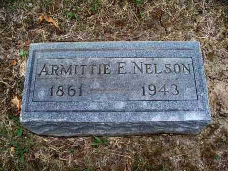 NELSON, ARMITTIE E. - Montgomery County, Kansas   ARMITTIE E. NELSON - Kansas Gravestone Photos