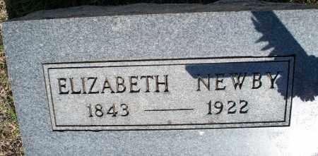 NEWBY, ELIZABETH - Montgomery County, Kansas | ELIZABETH NEWBY - Kansas Gravestone Photos