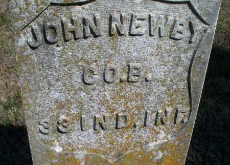 NEWBY, JOHN  (VETERAN UNION) - Montgomery County, Kansas | JOHN  (VETERAN UNION) NEWBY - Kansas Gravestone Photos