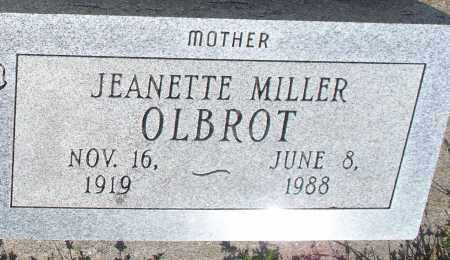 MILLER OLBROT, JEANETTE - Montgomery County, Kansas | JEANETTE MILLER OLBROT - Kansas Gravestone Photos
