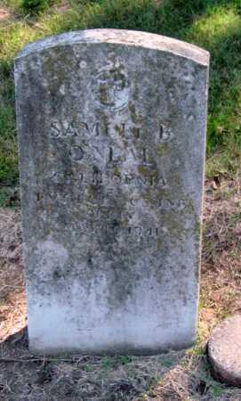 O'NEAL, SAMUEL BENJAMIN   (VETERAN WWI) - Montgomery County, Kansas | SAMUEL BENJAMIN   (VETERAN WWI) O'NEAL - Kansas Gravestone Photos