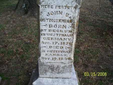 OSTDICKENBERG, JOHN B. - Montgomery County, Kansas | JOHN B. OSTDICKENBERG - Kansas Gravestone Photos