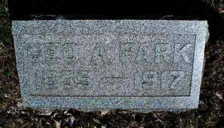 PARK, GEO. A. - Montgomery County, Kansas | GEO. A. PARK - Kansas Gravestone Photos
