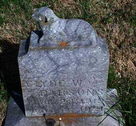 PARSONS, CLYDE W. - Montgomery County, Kansas | CLYDE W. PARSONS - Kansas Gravestone Photos