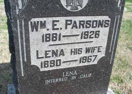 PARSONS, WM. E. - Montgomery County, Kansas | WM. E. PARSONS - Kansas Gravestone Photos
