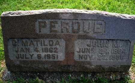 PERDUE, C. MATILDA - Montgomery County, Kansas   C. MATILDA PERDUE - Kansas Gravestone Photos