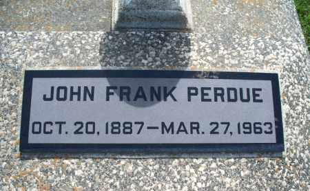 PERDUE, JOHN FRANK - Montgomery County, Kansas   JOHN FRANK PERDUE - Kansas Gravestone Photos