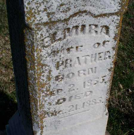 PRATHER, ELMIRA - Montgomery County, Kansas | ELMIRA PRATHER - Kansas Gravestone Photos
