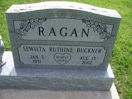 BUCKNER RAGAN, SEWILTA RUTHINE - Montgomery County, Kansas   SEWILTA RUTHINE BUCKNER RAGAN - Kansas Gravestone Photos
