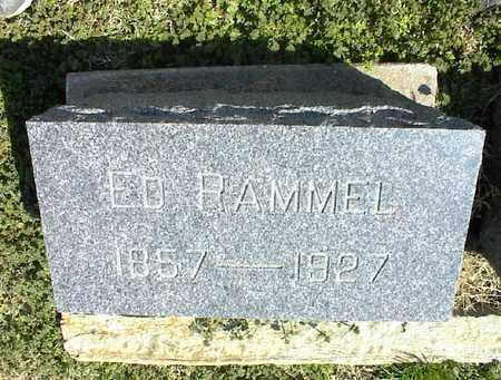 RAMMEL, ED - Montgomery County, Kansas | ED RAMMEL - Kansas Gravestone Photos