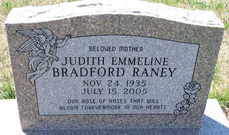 RANEY BRADFORD, JUDIT EMMELINE - Montgomery County, Kansas | JUDIT EMMELINE RANEY BRADFORD - Kansas Gravestone Photos