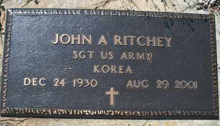 RITCHEY, JOHN A   (VETERAN KOR) - Montgomery County, Kansas | JOHN A   (VETERAN KOR) RITCHEY - Kansas Gravestone Photos