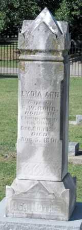 ROBB, LYDIA ANN - Montgomery County, Kansas   LYDIA ANN ROBB - Kansas Gravestone Photos