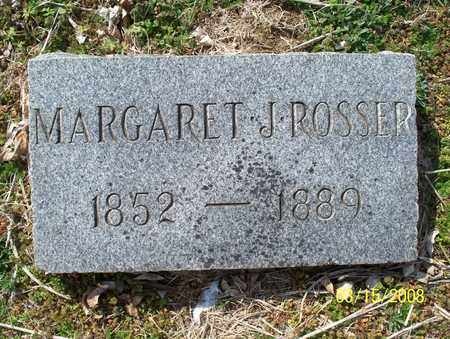 ROSSER, MARGARET J. - Montgomery County, Kansas | MARGARET J. ROSSER - Kansas Gravestone Photos