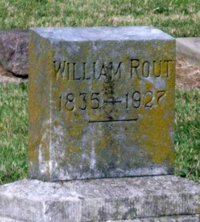 ROUT, WILLIAM - Montgomery County, Kansas | WILLIAM ROUT - Kansas Gravestone Photos