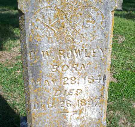 ROWLEY, G. W. - Montgomery County, Kansas | G. W. ROWLEY - Kansas Gravestone Photos