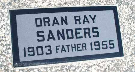 SANDERS, ORAN RAY - Montgomery County, Kansas | ORAN RAY SANDERS - Kansas Gravestone Photos