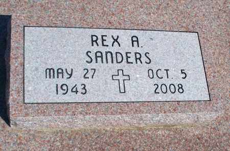 SANDERS, REX A. - Montgomery County, Kansas | REX A. SANDERS - Kansas Gravestone Photos