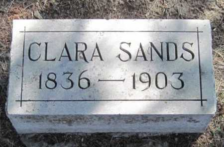 SANDS, CLARA - Montgomery County, Kansas   CLARA SANDS - Kansas Gravestone Photos