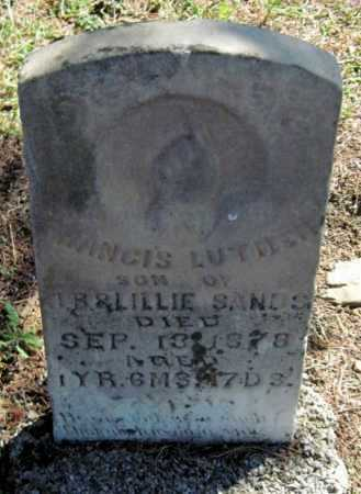 SANDS, FRANCIS LUTHER - Montgomery County, Kansas | FRANCIS LUTHER SANDS - Kansas Gravestone Photos