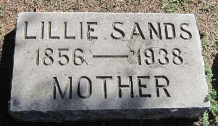 SANDS, LILLIE - Montgomery County, Kansas | LILLIE SANDS - Kansas Gravestone Photos