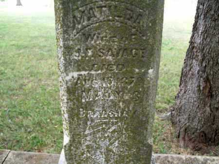 SAVAGE, MATILDA - Montgomery County, Kansas | MATILDA SAVAGE - Kansas Gravestone Photos
