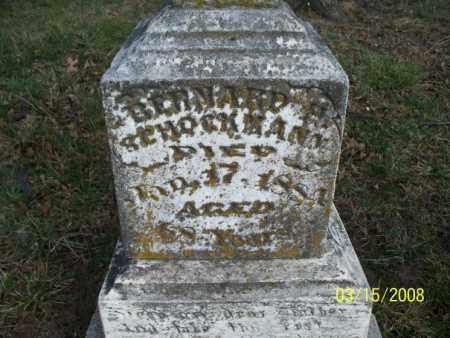 SCHOCKMANN, BERNARD H - Montgomery County, Kansas   BERNARD H SCHOCKMANN - Kansas Gravestone Photos