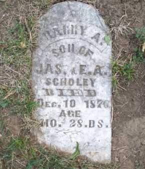 SCHOLEY, HARRY A. - Montgomery County, Kansas | HARRY A. SCHOLEY - Kansas Gravestone Photos