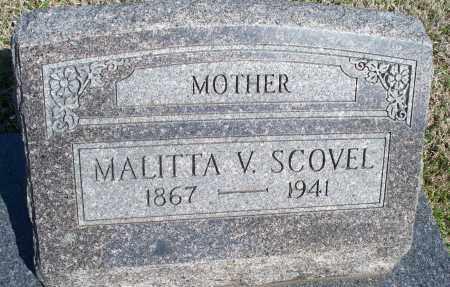 SCOVEL, MALITA V. - Montgomery County, Kansas | MALITA V. SCOVEL - Kansas Gravestone Photos