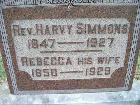 SIMMONS, REV. HARVY - Montgomery County, Kansas | REV. HARVY SIMMONS - Kansas Gravestone Photos
