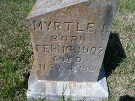 SMITH, MYRTLE I. - Montgomery County, Kansas | MYRTLE I. SMITH - Kansas Gravestone Photos