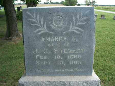 STEWART, AMANDA A. - Montgomery County, Kansas   AMANDA A. STEWART - Kansas Gravestone Photos