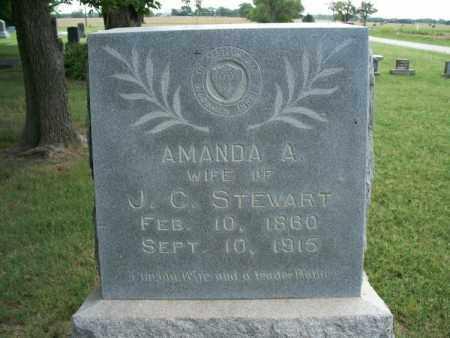 STEWART, AMANDA A. - Montgomery County, Kansas | AMANDA A. STEWART - Kansas Gravestone Photos