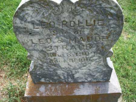 STRAUG, LEO ROLLIE - Montgomery County, Kansas   LEO ROLLIE STRAUG - Kansas Gravestone Photos