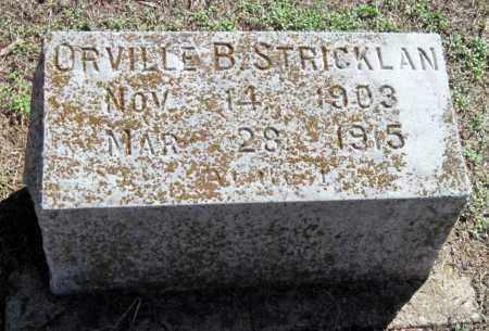 STRICKLAN, ORVILLE B - Montgomery County, Kansas | ORVILLE B STRICKLAN - Kansas Gravestone Photos