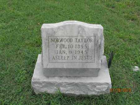 TAYLOR, NORWOOD - Montgomery County, Kansas | NORWOOD TAYLOR - Kansas Gravestone Photos