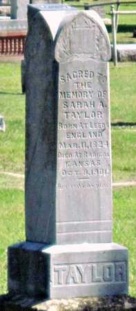 TAYLOR, SARAH ANN - Montgomery County, Kansas   SARAH ANN TAYLOR - Kansas Gravestone Photos