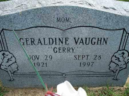 "VAUGHN, GERALDINE ""GERRY"" - Montgomery County, Kansas | GERALDINE ""GERRY"" VAUGHN - Kansas Gravestone Photos"