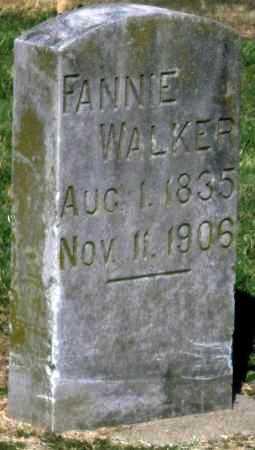 WALKER, FANNIE - Montgomery County, Kansas | FANNIE WALKER - Kansas Gravestone Photos