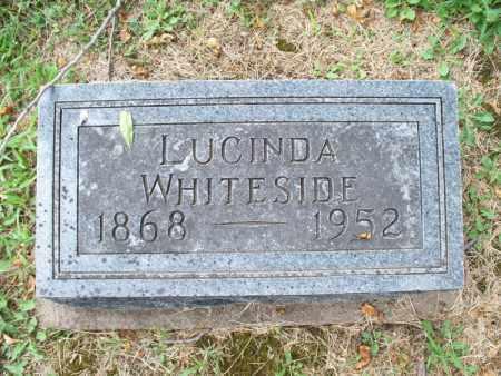 WHITESIDE, LUCINDA - Montgomery County, Kansas | LUCINDA WHITESIDE - Kansas Gravestone Photos