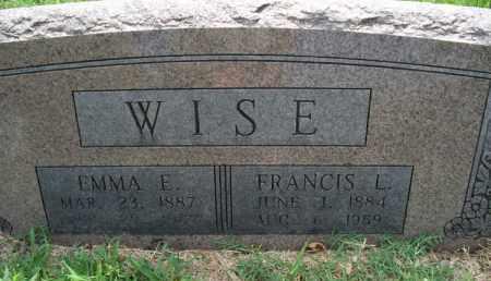 WISE, FRANCIS L. - Montgomery County, Kansas | FRANCIS L. WISE - Kansas Gravestone Photos