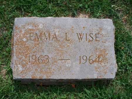WISE, EMMA L - Montgomery County, Kansas | EMMA L WISE - Kansas Gravestone Photos